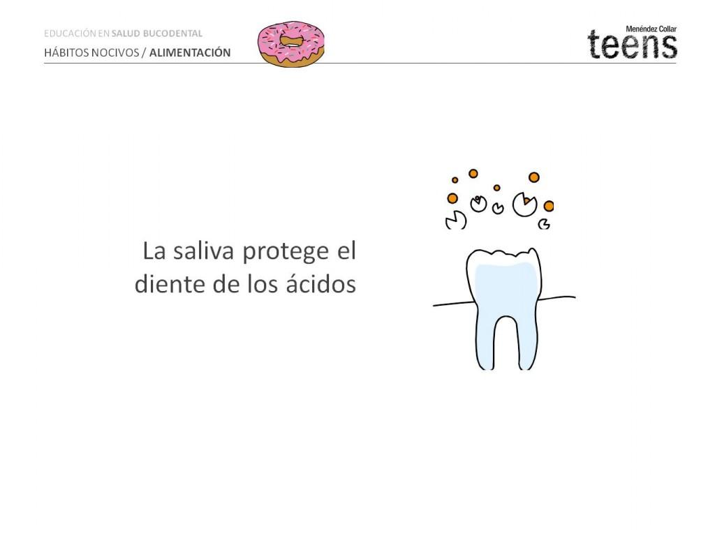 La saliva protege el diente de los ácidos