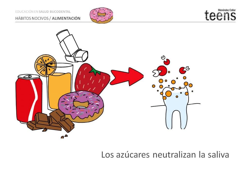 Los azúcares neutralizan la saliva